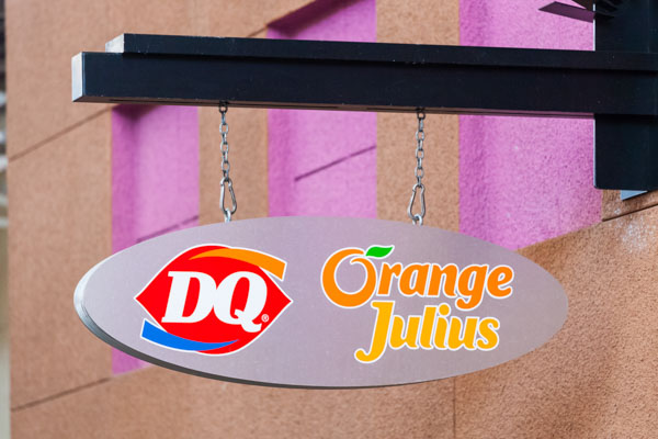 Orange Julius fast food restaurant